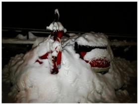 Vespa sous la neige